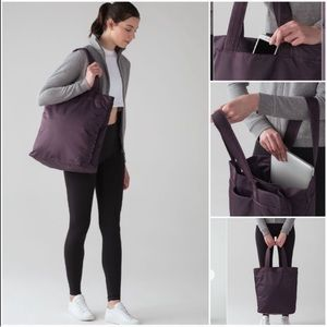 Lululemon | New Double Up Tote Bag Black Currant